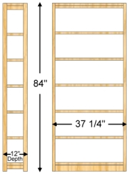 Specifications Actual Width Is 37 1 4wide All Material Solid Wood Uprights Are Fabricated With Deep Mortise Tenon Joinery